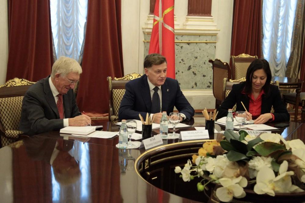Azərbaycan-Sankt-Peterburq parlamentlərarası əlaqələrinin inkişafı məsələləri barədə fikir mübadiləsi aparılıb