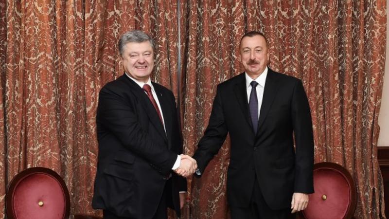 Azərbaycan Prezidenti ukraynalı həmkarı ilə görüşdü – FOTO