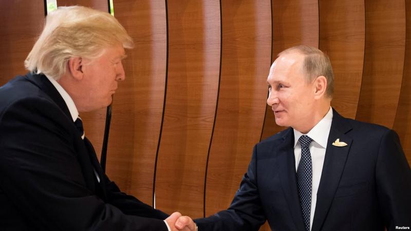 Trampla Putinin görüşünün kadrları yayıldı – VİDEO