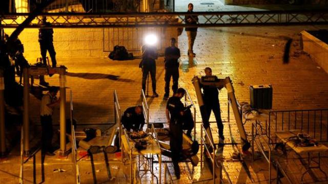 İsrail polisi və fələstinlilər arasında qarşıdurma- 173 YARALI