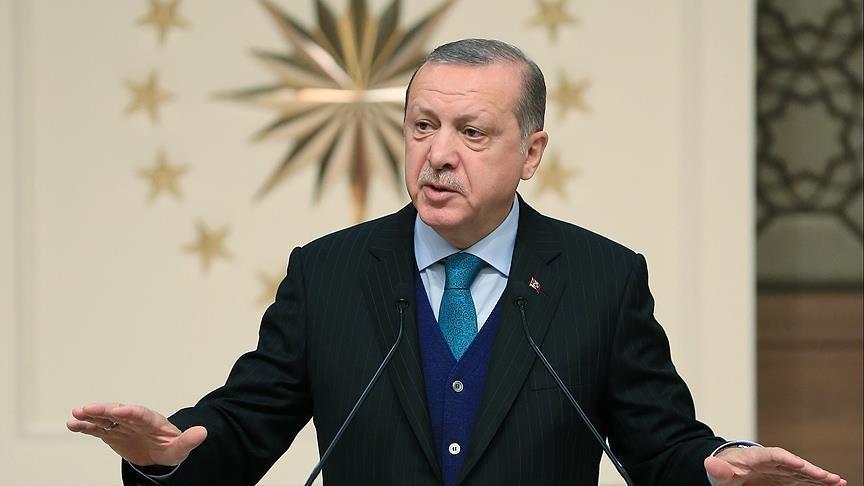"""Türkiyə prezidenti: """"""""Zeytun budağı""""nı birlikdə zəfərə çatdıracağıq"""""""