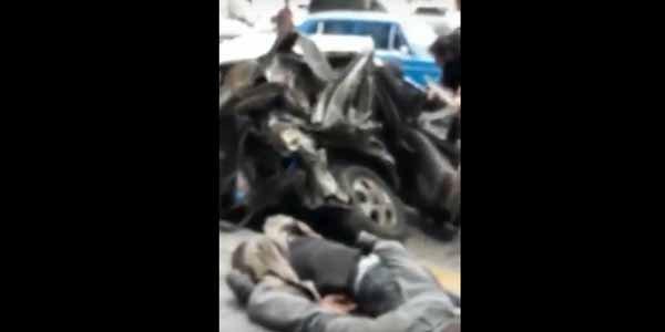 Bakıdakı dəhşətli qəzadan görüntü yayıldı – Video/16+
