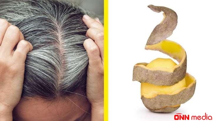 Kartof qabığı ilə ağ saçlara son – TƏBİİ BOYA