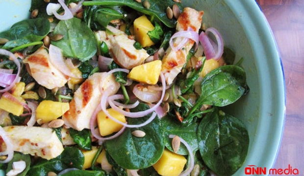 Kökəltməyən ispanaq salatı – RESEPT