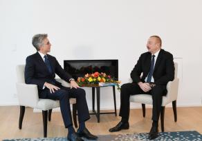 """İlham Əliyev """"SAP SE"""" şirkətinin baş icraçı direktoru ilə görüşüb"""
