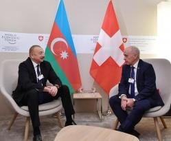 Azərbaycan Prezidenti və İsveçrə Prezidentinin  görüşü olub