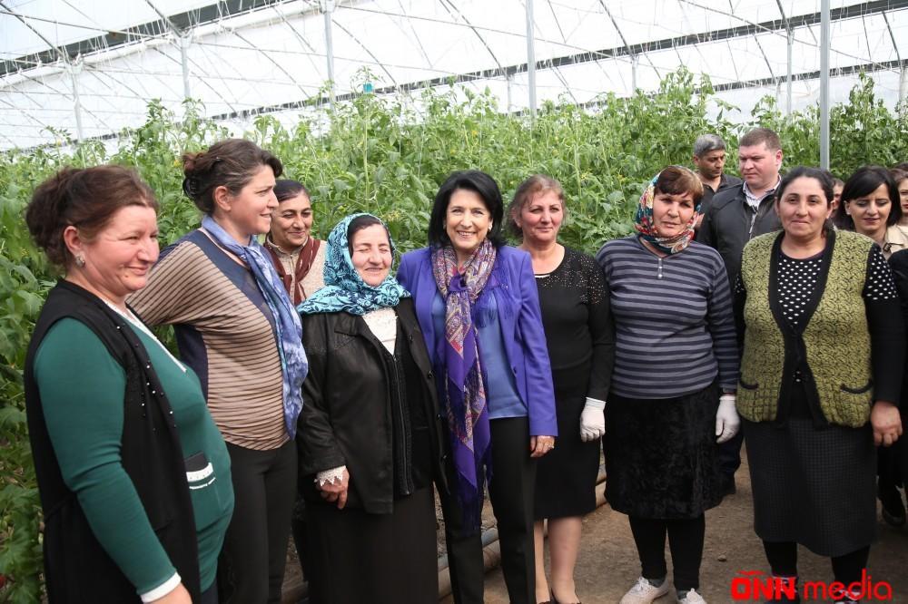 Gürcüstan Prezidenti azərbaycanlılarla görüşdü – FOTOLAR