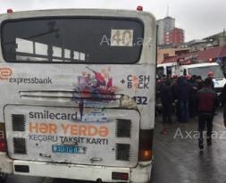 QORXUNC QƏZA — Avtobus maşının üstündən keçdi