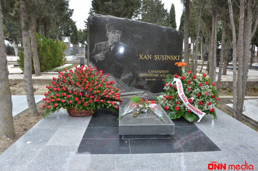 Görkəmli xanəndə Xan Şuşinskinin xatirəsi anıldı