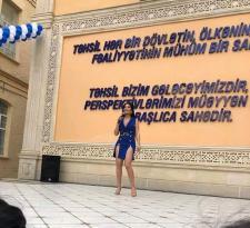 Afaq Aslanın ADNSU-dakı qalmaqallı səhnə geyimi haqda universitet RƏSMİ açıqlama verdi
