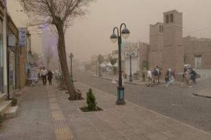 Kərbəlada qum fırtınası: Binalar çökdü – Video
