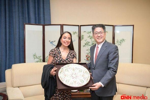 Leyla Əliyeva Çinin xarici işlər nazirinin müavini ilə görüşüb