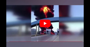 Terroristlər Azərbaycana aid neft maşınını partlatdı — VİDEO