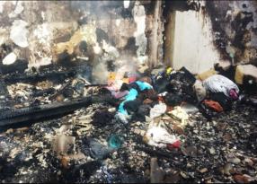 Ruhi xəstə yaşadığı evi yandırıb