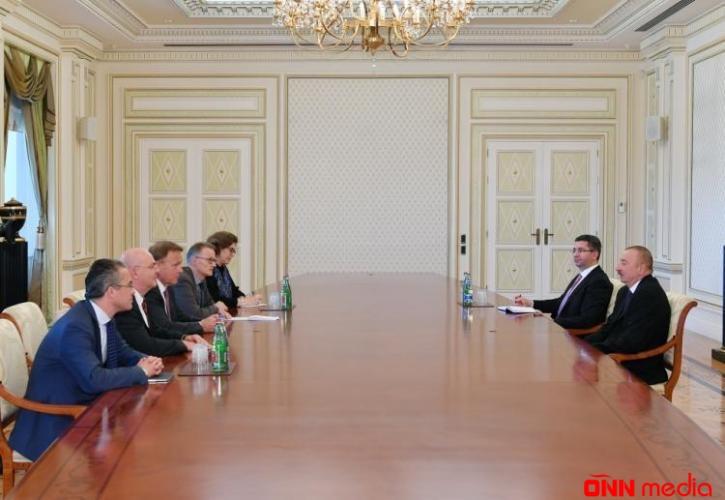 İlham Əliyev Bundestaqın vitse-prezidenti ilə görüşdü