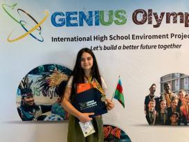 15 yaşlı Röya Nyu-Yorkda qızıl medal qazandı