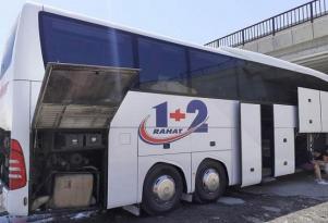 Bakı- İstanbul avtobusunda yanğın