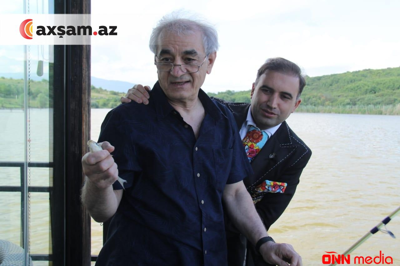Fəxrəddin Manafov Hacı Nuranla balıq ovunda — FOTOLAR