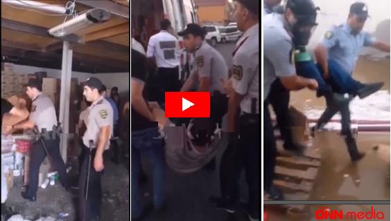 """""""Sədərək""""dəki yanğında polislər insanları belə xilas etdilər – VİDEO"""