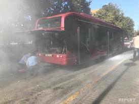 """""""Baku Bus""""ın avtobusunda tüstülənmə"""