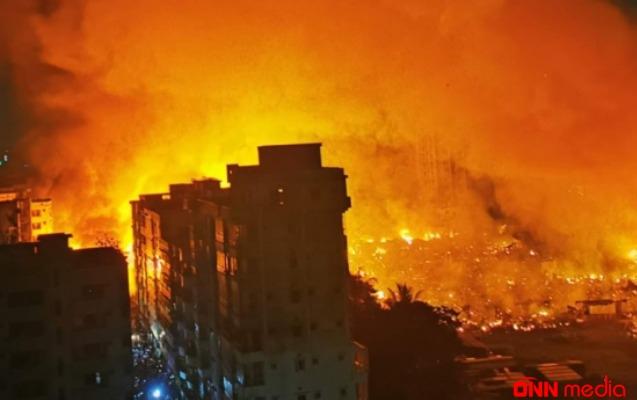 Banqladeşdə DƏHŞƏTLİ YANĞIN – 50 min insan…