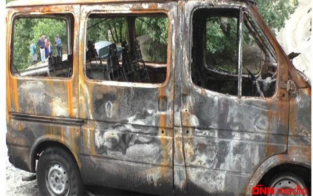 2 mikroavtobusu yandıran şəxs həbs edildi