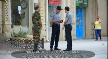 Əsgərə yardım edən polislərdən YENİ XƏBƏR – VİDEO
