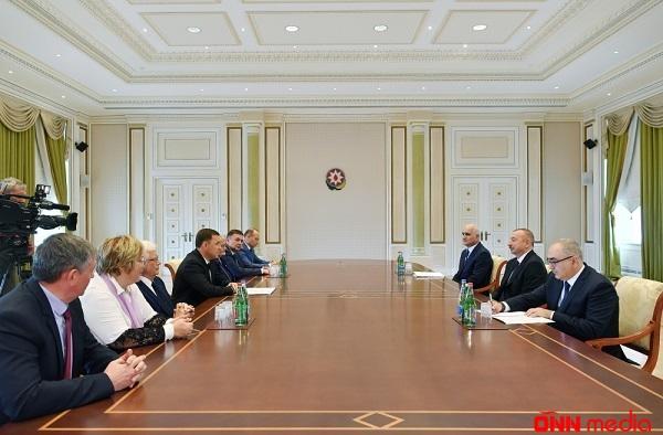 İlham Əliyev Rusiya Federasiyasının nümayəndə heyyətini qəbul edib