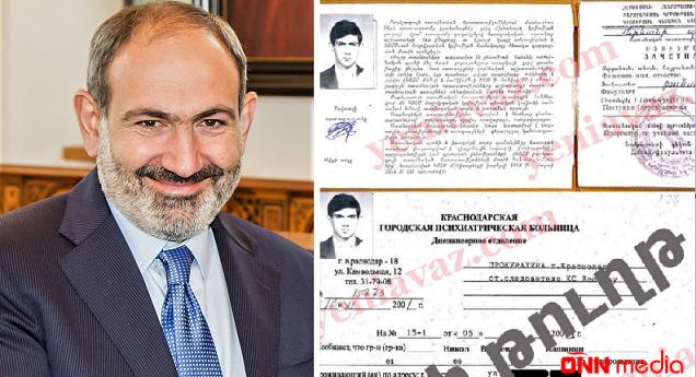 Ermənistanda ŞOK SƏNƏD yayıldı: Nikol Paşinyan dəlixanada yatıb