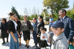 Mehriban Əliyeva Şamaxıda