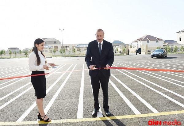 Prezident və xanımı yeni tədris kompleksinin açılışında