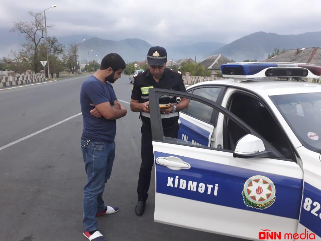 Yol polisi Göyçay və İsmayıllıda reyd keçirdi