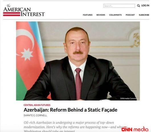 """""""The American Interest"""" nəşri Azərbaycanda islahatlardan yazıb"""