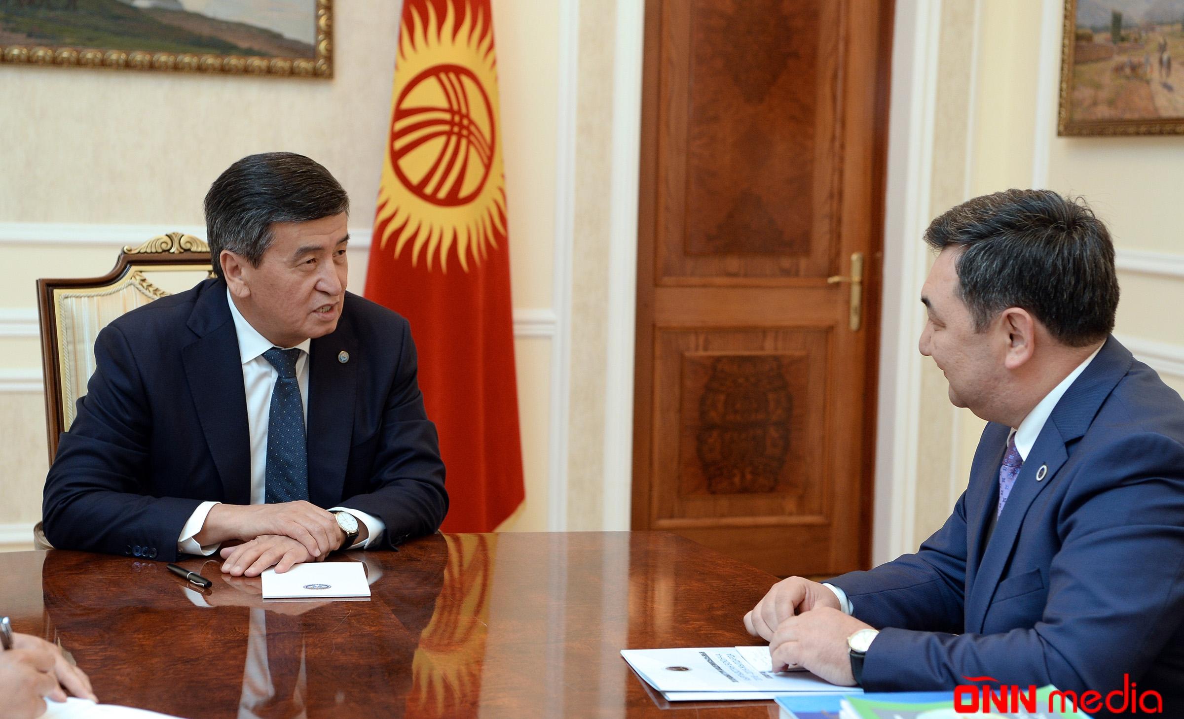 Qırğız prezidenti Beynəlxalq Türk Akademiyasının prezidenti ilə görüşdü
