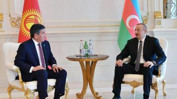 İlham Əliyev Qırğız Prezidenti ilə görüşdü