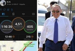Nazarbayev Bakı bulvarında gəzdi