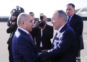 Nursultan Nazarbayev Azərbaycana gəldi