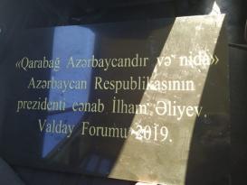 """Gülüstan qalasının üzərinə """"Qarabağ Azərbaycandır və nida işarəsi"""" lövhəsi asıldı"""