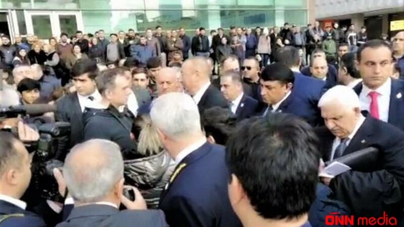 """Prezident """"28 May""""da sakinlərlə görüşdü – VİDEO"""