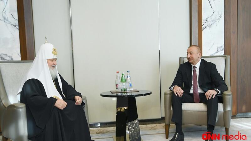 Prezident Bütün Rusiyanın Patriarxı Kirill ilə görüşdü