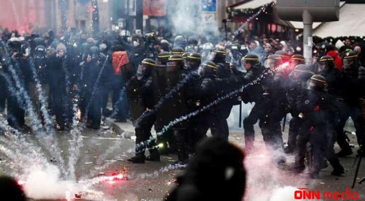 Fransadakı aksiyalara 800 min insan qatıldı