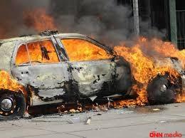 """Bakıda """"Volkswagen"""" yandı"""