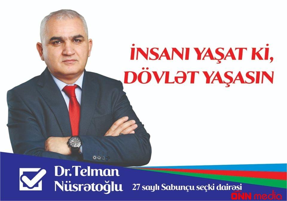 Sabunçu rayonu, 27N-li dairədən deputatlığa namizəd Telman Nusrətoğlu ilə tanış olun