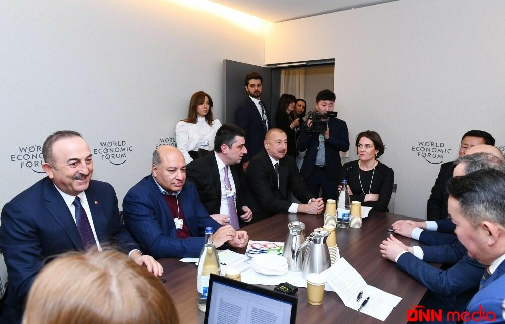 Prezident İlham Əliyev Dünya İqtisadi Forumu çərçivəsində keçirilən iclasda iştirak etdi