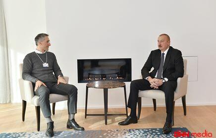 İlham Əliyev məşhur şirkətin direktoru ilə görüşdü