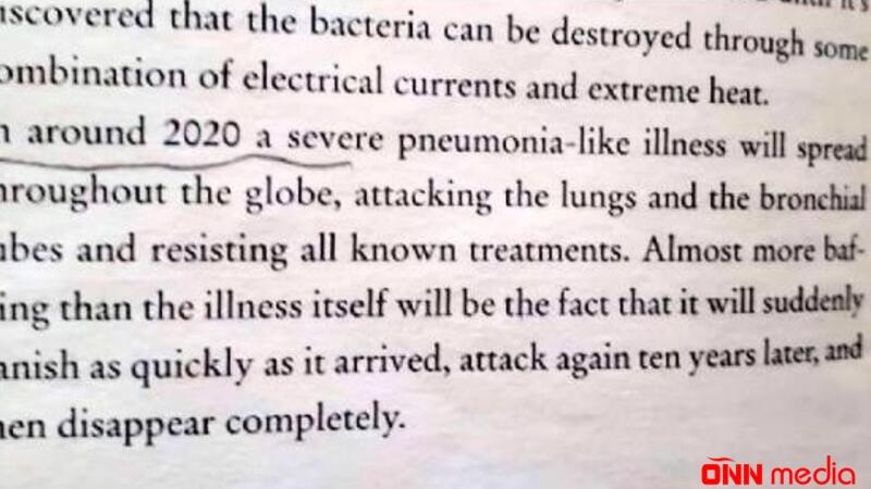 İNANILMAZ: 2005-ci ildə nəşr olunan kitabda koronavirus barədə yazılıb – VİDEO