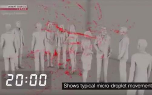 Yapon alimlərdən virusun hava ilə yayıldığını sübut edən – Video