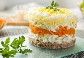 Mimoza salatının  hazırlanma QAYDASI