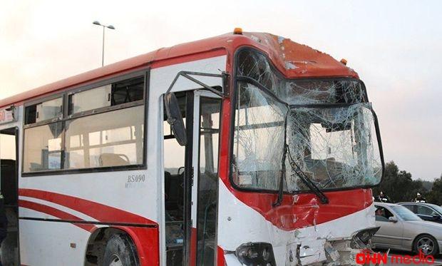 Bakıda iki avtobus toqquşdu- Ölən var