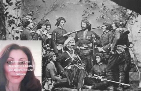 Ermənilərin Soçi iddiası: Rus qadın özündən çıxdı- VİDEO
